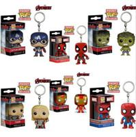 Wholesale Iron Man Cute Model - Avengers Hulk Iron Man Captain America Action Figures Model Toys cute key chain pendant free shipping