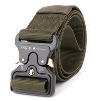 Wholesale Tactical Belt Buckles Wholesale - ENNIU male army fan belt belt tactical tactical multifunction nylon outdoor training belt free shipping