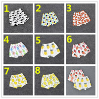 Wholesale Strawberry Figures - 8 Design Kids INS Fruits PP Pants Baby Toddlers Boy Girl Strawberry Pineapple Geometric Figure Pants Shorts Leggings K7216