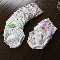 Wholesale Training Pants For Boys - 10colors Baby cotton potty training pants briefs infants cartoon printing shorts quilted Cloth Diaper for 0-3T boys girls