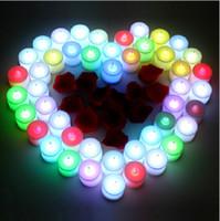 праздничные свечи без пламени оптовых-Новый электронный светильник свечи светодиодные свечи мигает беспламенный праздник партии свадебные огни рождественские подарки чай свеча лампа