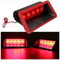 ingrosso la terza luce del freno ha portato-Universal 12V Car 5 LED Warning Rear Tail 3rd Third Stop Stop Fendinebbia High Mount Red