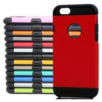 Wholesale slim iphone5 - For iPhone 7 Case Tough Slim Armor Case Hybird 2 in 1 TPU+PC Colorfull Armor Case Cover With Opp Bag For Iphone5 5s 5se 6 6s 6plus