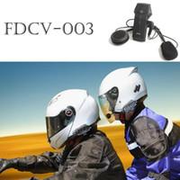 Wholesale Hands Free Bluetooth Motorcycle - 1000M BT FDC Motorcycle Helmet Wireless Bluetooth Headset Headphone Intercom Interphone NFC Hand Free Speaker Helmet