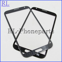 Wholesale S3 Glass Grey - DHL 100pcs lot (Pebble grey&gray) Front Digitizer Screen Lens Outer Glass For Samsung Galaxy Note2 Note 2 N7100 N7105 i317 T889 I605 + logo