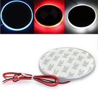 Wholesale Bmw Badge Light - LED Car Decal Sticker Logo Badge Emblem Light Lamp 12V For BMW 3 5 7 Series Red White Blue Color