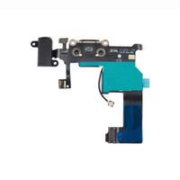 base para altavoz de iphone al por mayor-Cargador Conector del puerto de la base de acoplamiento Conector de la antena del micrófono del altavoz Conector para el iPhone 5 5G por mayor