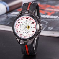 Wholesale Italy Car - 2017 new Italy top brand watch F1 Sports car watches calendar three eyes men sports Men's Watches Relogio fashion Casual luxury Watch