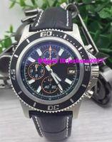 Wholesale Superocean Strap - Luxury watch men superocean ii heritage 46 watch leather strap quartz chronograph watch men dress wristwatches