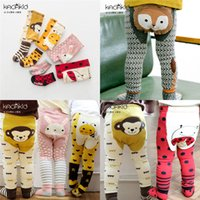 Wholesale cute tights for baby girls for sale - Group buy Baby Girls Leggings Pants Cute Cartoon Animals PP Pants With Short Socks Sets Cotton Tights Trousers For Fall Kids Clothing Factory