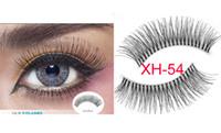 Wholesale Eyelash Silk - XH-54 Cheapest eyelashes most popular eyelashes 10 pairs in a box synthetic silk eyelashes Manual 10Pairs Pack Synthetic Cross Fake Eyelash