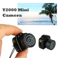 Wholesale Video Camera Smallest Dvr - Y2000 Mini Camera Smallest Pocket Camera Mini DV Recorder Micro DVR Video Camera Portable Webcam With Keychain