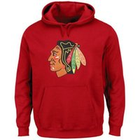 Wholesale new jersey hoodie resale online - New Blackhawks Hoodies Hockey Hoodie Red And Black Color Size S XXXL High Quality Mix And Match All Jerseys