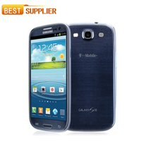 Wholesale Dhl Galaxy S3 - Free DHL shipping Original Samsung Galaxy S3 i9300 i9305 Cell phone Quad Core 8MP Camera NFC 4.8'' GPS Wifi 3G Unlocked Phone Refurbished