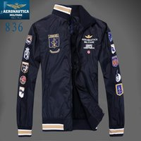 Wholesale Black Air Force Ones - 2016 New Style Aeronautica Militare Jackets Sports Men's polo Air Force One jackets Italy brand jackets,winter jacket MAN clothes