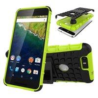 étui huawei nexus 6p achat en gros de-Hybrid Textured Cover Cover Case pour Huawei P9 Lite Case P8 Lite Y3 Honor 5X G7 Nexus 6P résistant aux chocs cas de support absorbant