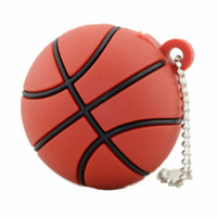 Sports Ball USB Stick Cadeaux promotionnels PVC USB Basketball USB Flash Drive 1 Go 2 Go 4 Go 8 Go 16 Go