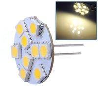 Wholesale G4 Led Back Pins - Big Promotion Warm White G4 9 LED 5050 SMD Home Car Auto Boat Bulb Lamp Lights Back Pin DC12V