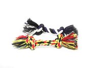 Wholesale Dog Teeth Bones - 100% Cotton Dog Rope Toy Double Knot Clean and Floss Dog Teeth Pets Chew Fetch Durable Braided Bone Rope Toy,Color Varies