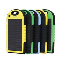 Wholesale Solar Energy Wholesale - 5000mAh Solar Battery Charger with LED 5000mAh solar charger Portable Powerbank Solar Energy Panel Power Bank For Mobile Phone