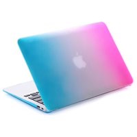 Housse de protection en plastique dur pour 11 12 13 15 pouces Macbook Air Pro avec Retina Laptop Crystal Frosted l'arc-en-Cover Shell