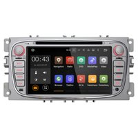 Gps Ford Focus Baratos-Alegre Doble 2 DIN 7 pulgadas Quad Core de coches reproductor de DVD para Ford Focus Android 5.1 GPS Radio Navegación 3G WIFI AUX del sistema de audio multimedia