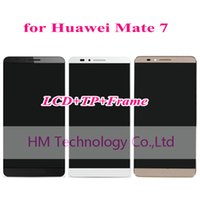 Wholesale Huawei Ascend Mate Free Shipping - Wholesale-Black White Gold LCD+TP+Frame for Huawei Ascend Mate7 Mate 7 LCD Display+Touch Screen Digitizer with Frame Free Shipping+Tools