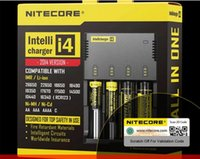 Wholesale Intellicharge I4 - factory price 100% New Nitecore i4 Intellicharge Universal Battery Charger RCR123A 26650 18650 AA AAA WIth Retail box Free Shipping