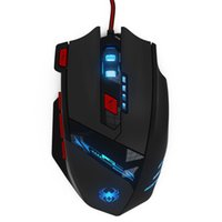Wholesale memory mouse - Wholesale- Realiable gaming mouse mouse gamer ZELOTES 8000 DPI 8 Key Memory Chips Design 6 Optical LED Wired Game Mouse