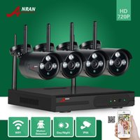 Wholesale Network Nvr System - ANRAN HD 4Ch Network Wifi NVR 720P Plug&Play Array 3 IR Waterproof Outdoor Wireless IP Video Camera Security CCTV System