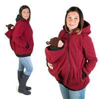 Wholesale Pregnant Novelty - Baby Carrier Jacket Kangaroo Winter Maternity Outerwear Coat for Pregnant Women Thickened Pregnancy Wool Baby Wearing Coat Women