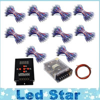 Wholesale Addressable Rgb Led Controller - LED Pixel WS2811 12mm module IP68 RGB diffused addressable for channel letter sign + T-500 Controller + Power adapter 500pcs