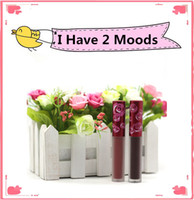 Wholesale I Mood - I have 2 MOODS Matte Lipstick Velvet Matte Lip Gloss 2 Suits Customized Other Colors Long-lasting Waterproof Lip Gloss Free Shipping 1 pc