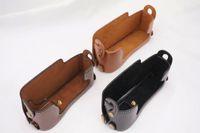 Wholesale E1 Strap - Battery Openning PU Leather Camera Bag Bottom Case for Fujifilm Fuji X-E1 X-E2 XE1 XE2 Half Body Cover With Hand Strap