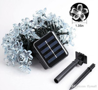 Wholesale Blue Flower String Lights - 23ft Outdoor Solar String Lights 7M 50 Led Blossom Flower Fairy Light for Garden Patio Wedding Party Bedroom Christmas Decoration Light