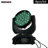 4pcs / lot LED Wash Moving Head luce 108X3W RGBW LED Stage Lighting DJ Disco Lighting DMX Sound Stage professionale luce per eventi / matrimonio