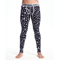 Wholesale Chevron L - Wholesale-Men 2016 Fine Stars Long Pants Male Chevron Printing Cotton Sexy Thin Style Underwear Popular Competitive Tights