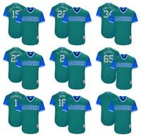 "Wholesale Baseball Brother - Men's Kyle Seager ""Corey's Brother""Jarrod Dyson ""Zoombiya"" Jean Segura ""El Mambo""Majestic Aqua 2017 Seattle Mariners Players Weekend Jersey"