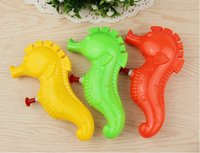 Wholesale Wholesale Small Toy Guns - Wholesale- Colorful hippocampal nozzle summer beach water street children of children toy mini small water gun toys