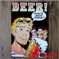 signos de taberna vintage al por mayor-30 * 20cm Party Bar Beer Coffee Tavern Cartel de chapa vintage Cartel de chapa Pub Bar Cafe Shop Decoración Cartel retro Cartel de chapa Taberna mundial