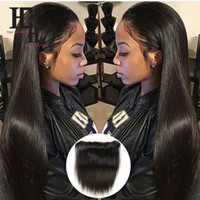 Wholesale Lace Closure Prices - HC Hair Straigt hair wholesale Price Brazilian Virgin Straight Lace Frontal Closure S traight 100% Unprocessed human hair extensions