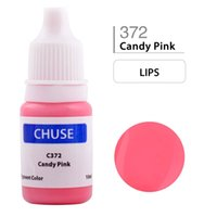 Wholesale Candy Tattoos - CHUSE Permanent Makeup Ink Lips Tattoo Ink Set Microblading Pigment Professional Micro Maquiagem Definitiva 10ML Candy Pink C372
