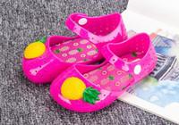Wholesale Wholesale Canvas Wraps - 2016 new arrival Mini Melissa Sandals Shoes Breathable sandals children's shoes Summer baby pineapple female children's shoes