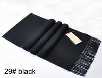 Wholesale Warm Cashmere Scarf Mens - Top Quality 100% Cashmere Winter Mens Cashmere Scarf Letter Chain Designer Soft Man Scarf Print Warm Male Scarves 180x30 With Box