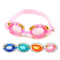 yüzme için burun klipleri toptan satış-Su geçirmez Yüzme Gözlükler Çocuk Çocuk Boys Kız Dalış Gözlük ile Earplug Burun Klip Swim Gözlük Yengeç Arı Çocuk Yüzme Gözlük