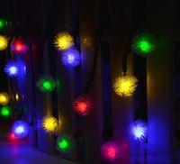 Wholesale Solar Home Lighting - Halloween Solar Christmas Lights 20 LED Chuzzle Ball Solar String Lgihts for Homes Christmas Gardens Wedding Party Decoration Waterproof