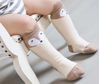 Wholesale Bottom Girl Korean - Fashion new korean children socks girls cute fox Contrast Color socks kids Non-slip bottom socks children highs socking A9061