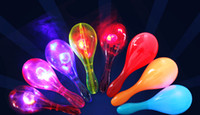 Wholesale Latex Hammer - free shipping whilesale Children toys luminous sand hammer props flash rattle concert KTV bar supplies party cheer