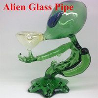 Wholesale Smoking Pipes Uk - Alien smoking pipes glass pipe lovely glass bong glass water pipes for smoking DHL Free Shipping to USA UK Canada
