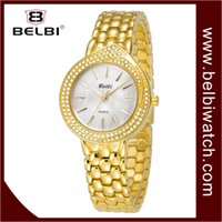 Wholesale China Ladies Designs - 2017 AAA Women Luxury Wristwatches Oval Diamond Dial Design for BELBI Ladies Waterproof Quartz Battery Movement Clock China Master Watches